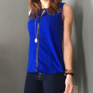 Apt. 9 Tank with Faux Leather Accents.